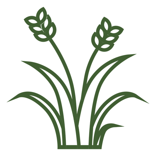Icono de hierba de trigo Transparent PNG