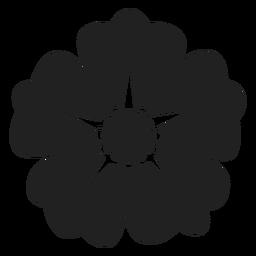 Icono de flor rosa salvaje