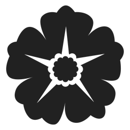 Wild rose flower icon