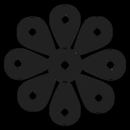 Icono de flor silvestre