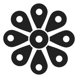 Wildflower blossom icon