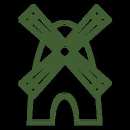 Icono de molino de viento molino de viento