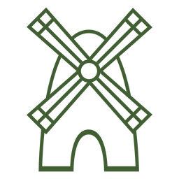 Windmühle Symbol Windmühle