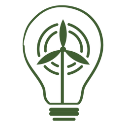 Wind turbine electricity icon