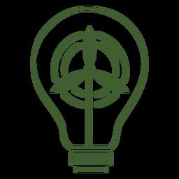 Windkraftanlage-Strom-Symbol