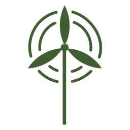 Vento de ícone do moinho de vento