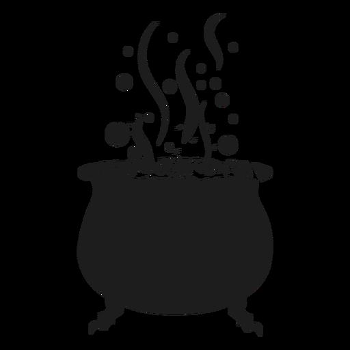 Witch cauldron silhouette