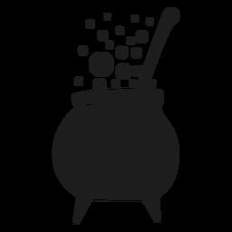 Silueta de olla bruja de cocina