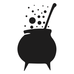 Witch cooking pot silhouette