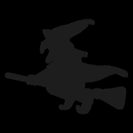 Bruxa, montando uma silhueta de vassoura Transparent PNG