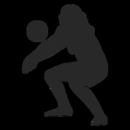 Silueta de jugador de voleibol de mujer