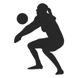 Woman volleyball player silhouette