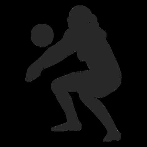 Silhueta de jogador de vôlei de mulher Transparent PNG