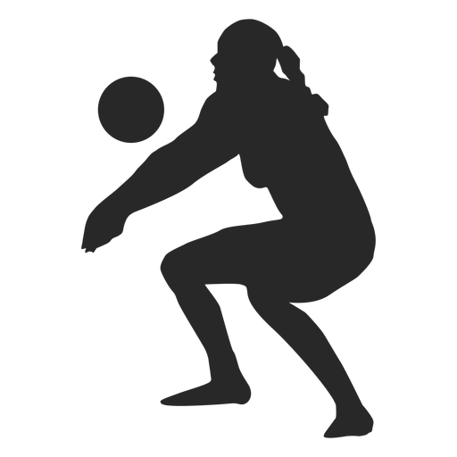 Woman volleyball player silhouette Transparent PNG