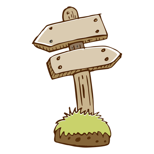 Wooden direction arrow icon