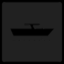 Ícone quadrado barco iate
