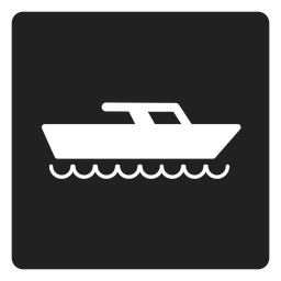 Yacht boat square icon