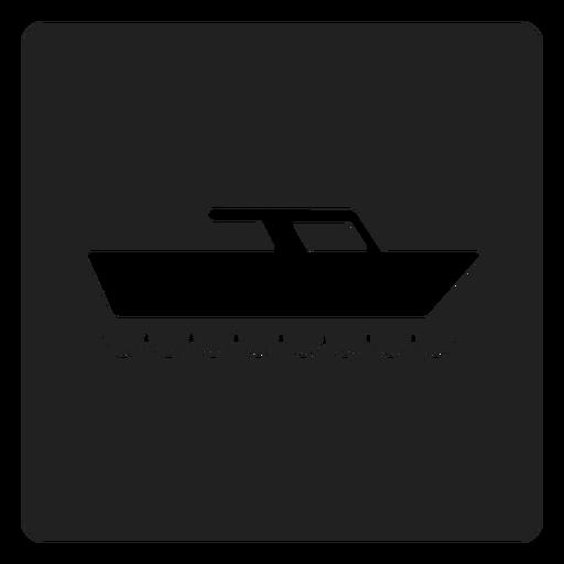 Icono cuadrado de barco yate Transparent PNG