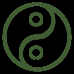 Ícone yin e yang