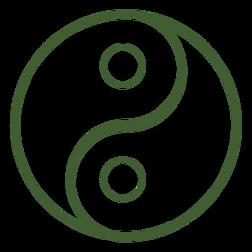 Ícone de yin e yang Transparent PNG