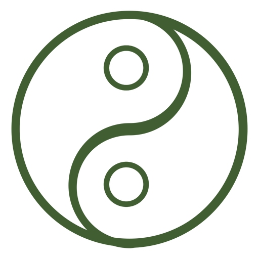 Yin and yang icon Transparent PNG