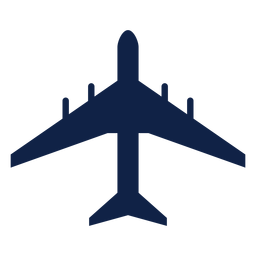 Airbus a340 avión vista superior silueta