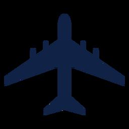 Silueta de vista superior de avión Airbus a340
