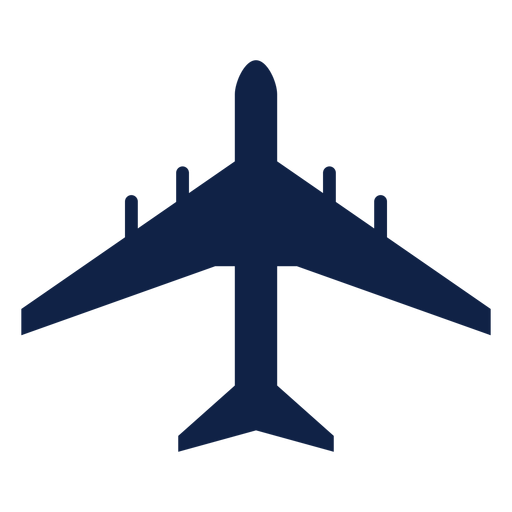 Airbus a340 airplane top view silhouette Transparent PNG