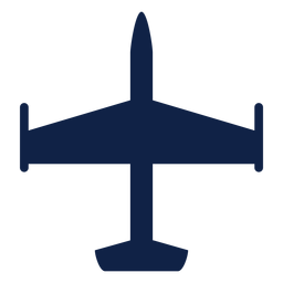 Airplane aircraft top view silhouette