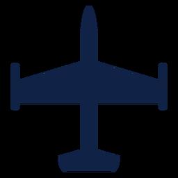 Avión avión vista superior silueta
