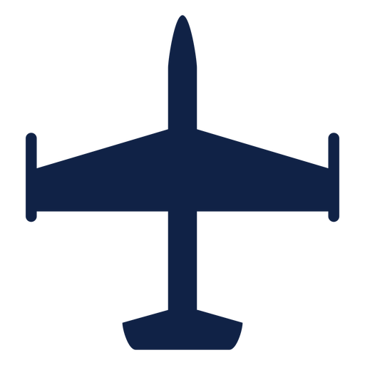 Airplane aircraft top view silhouette Transparent PNG