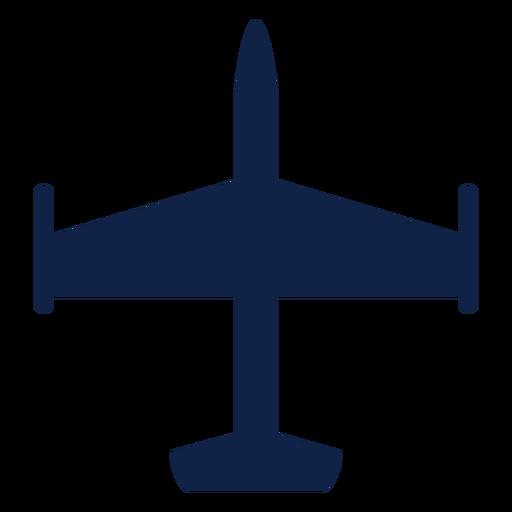 Silueta de vista superior de avión avión