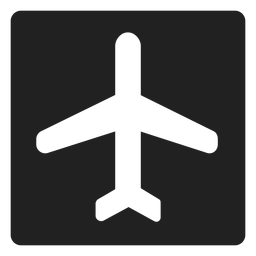 Airplane square icon