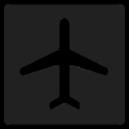 Ícone quadrado de avião