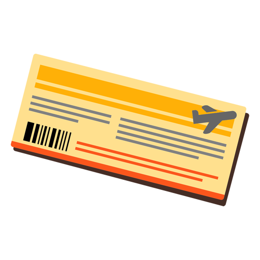Airplane ticket icon Transparent PNG