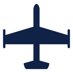Airplane top view silhouette