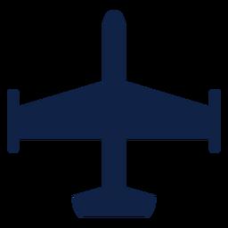 Silueta de vista superior de avión
