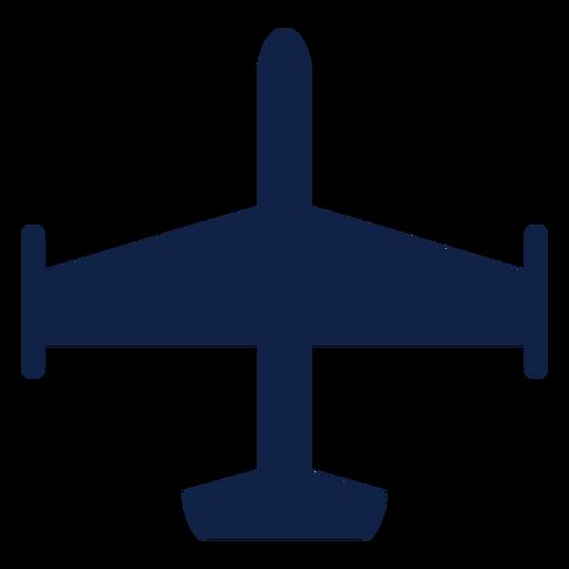 Silueta de vista superior de avión Transparent PNG
