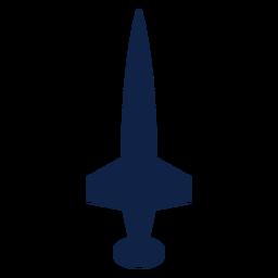 Icono de silueta de vista superior de avión