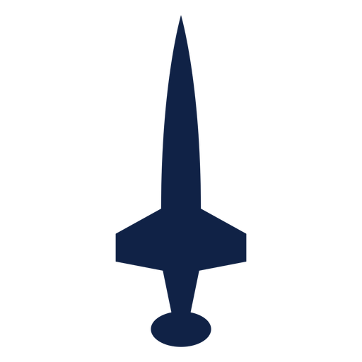 Airplane top view silhouette icon