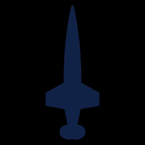 Icono de silueta de vista superior de avión Transparent PNG