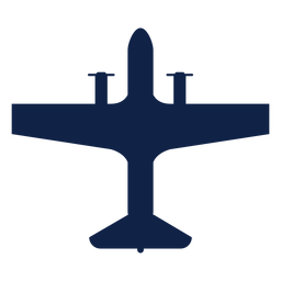 Airplane transport top view silhouette