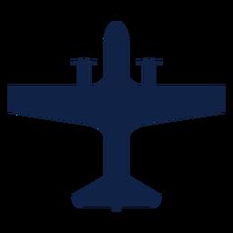 Silhueta de vista superior de transporte de avião