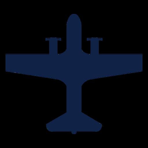 Transporte de avión vista superior silueta Transparent PNG