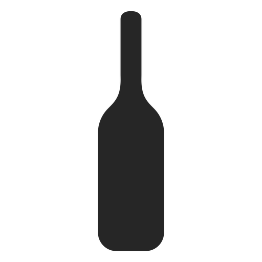Icono de botella de alcohol plana Transparent PNG