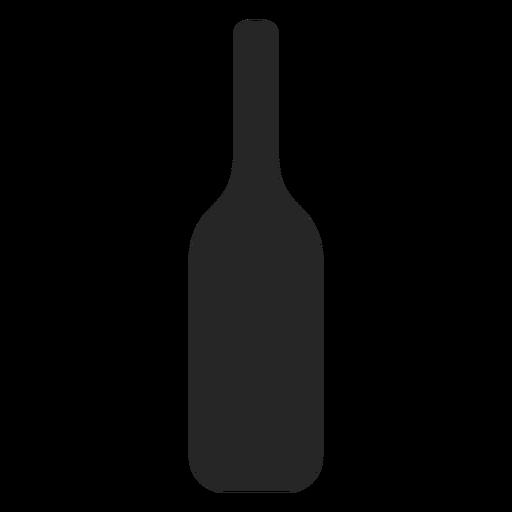 Icono plano de botella de alcohol
