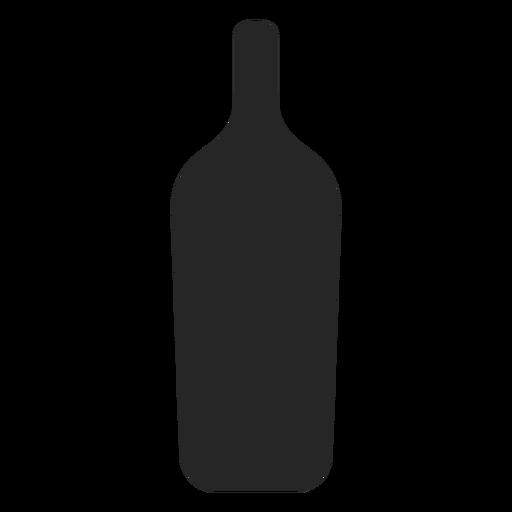 Icono plana de la botella de bebida alcohólica Transparent PNG