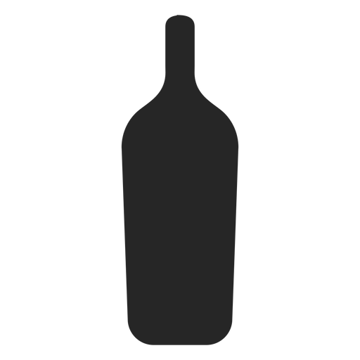 Icono plano de botella de bebida alcohólica