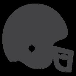 Ícone plana de leme de futebol americano