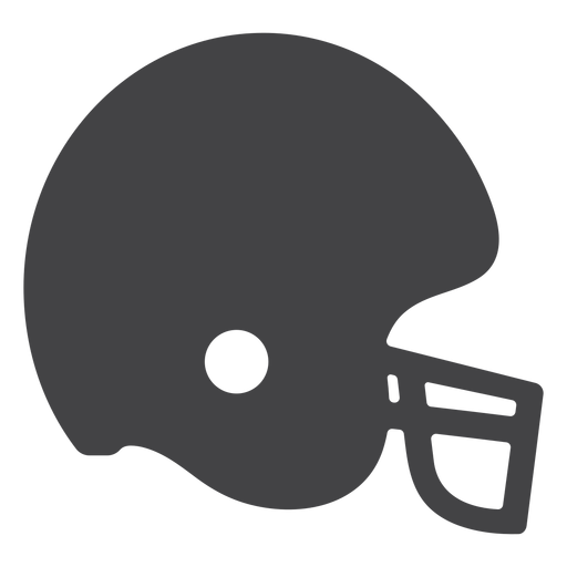 Ícone plana de leme de futebol americano Transparent PNG